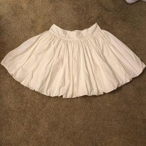 Cotton bubble mini skirt